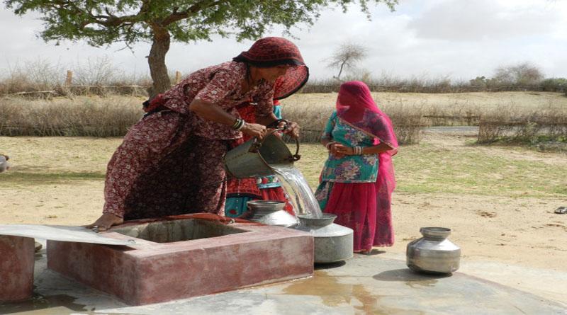 Women filling water