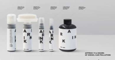 Ink made from diesel emissions