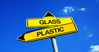 Glass and plastic