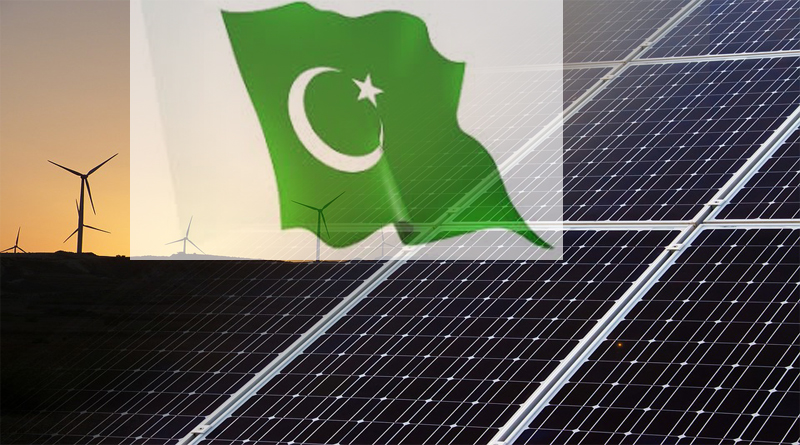Pakistan uses solar and wind power