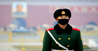 Chinese Police in pollution