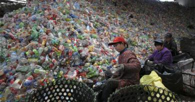 Plastic landfill