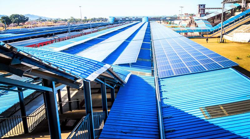 Solar Powered Train Station