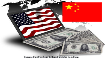increase in tariff on Solar Cells and Modules from China