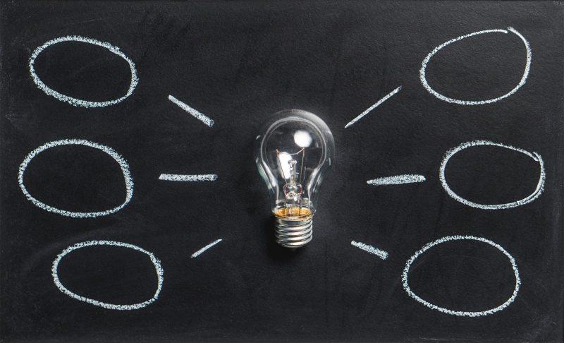 Lightbuld with Ideas