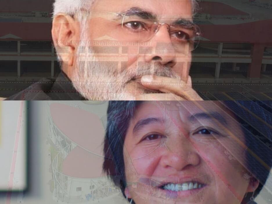 PM Modi and Joan Carling