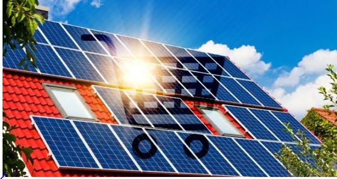 Solar Panel Rooftop Shopping