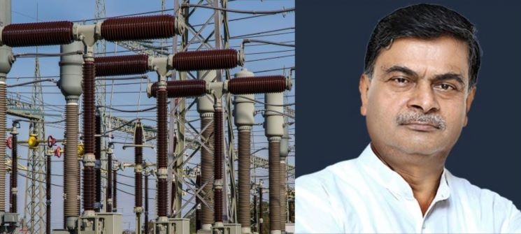 RK Singh with Power Lines