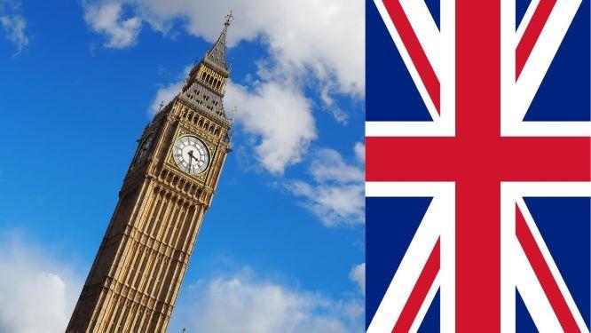 Big Ben and UK flag
