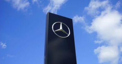 Mercedes Benz Logo Sign