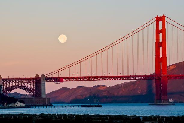 Golden Gate Bridge in California