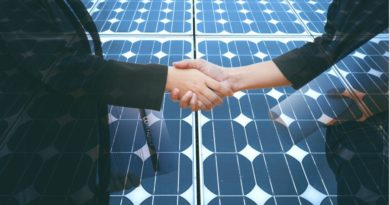 hand shake with solar