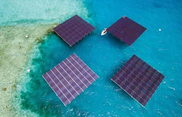 Floatin solar panels
