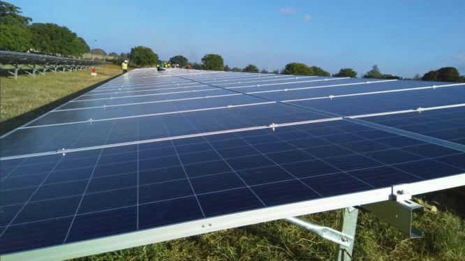 Solar Panels at Kenya Airport