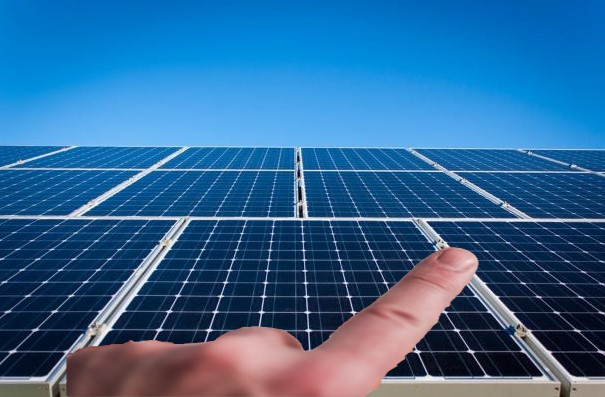 Solar panel with Finger