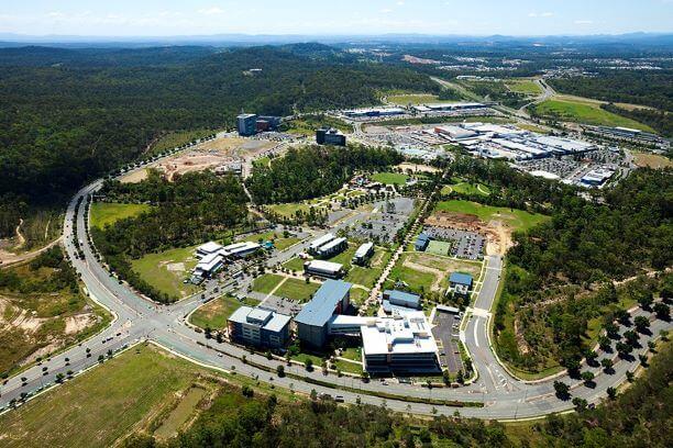 Springfield CBD Aerial View