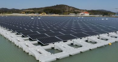 Solar Modules in 40mw Floating Solar Plant