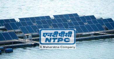 NTPC Floating solar panels