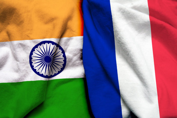 India and France Flags