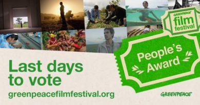 Greenpeace Film Festival Banner