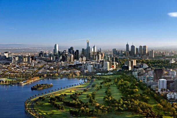 Ariel View of Melbourne, Australia