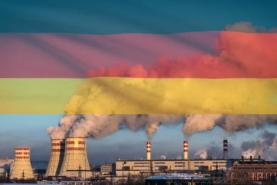 Coal plant with German flag