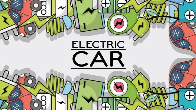 Electric Car Illustration