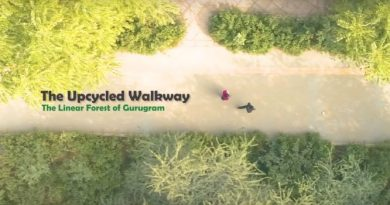 Upcycled Walkway Banner