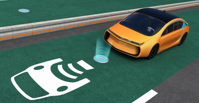 Wireless EV charging path