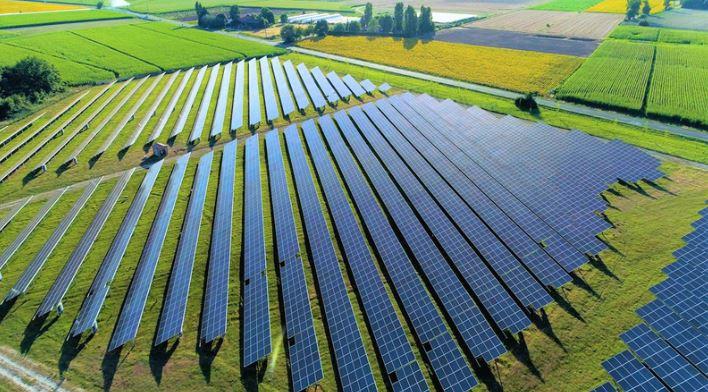 Array of solar panels