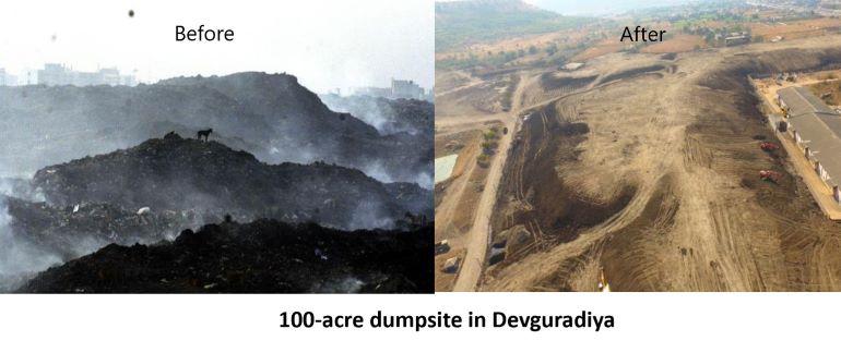 100-acre dumpsite in Devguradiya