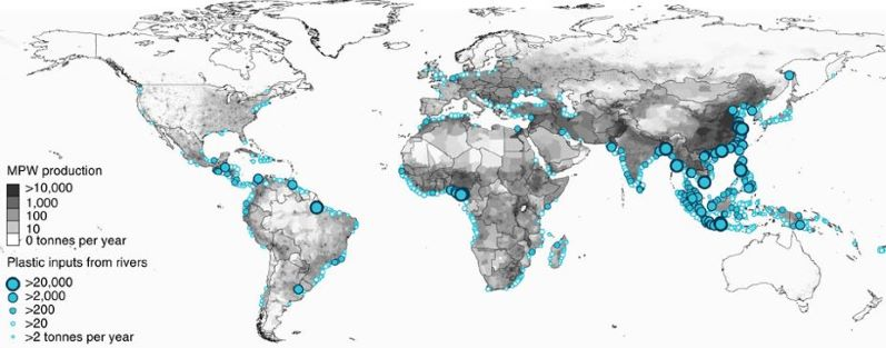 River Plastic sources in the world