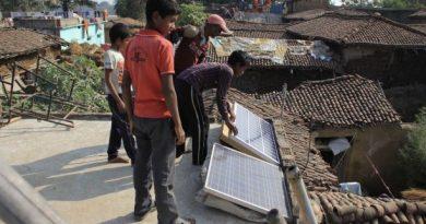 Solar Panels in Village