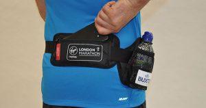 Bottle belts used during London Marathon