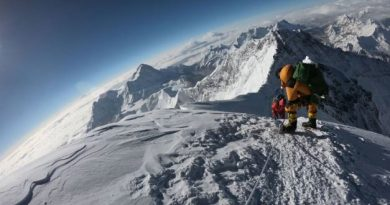 Mt Everest climber pic
