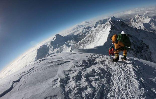 Mt Everest climber pic