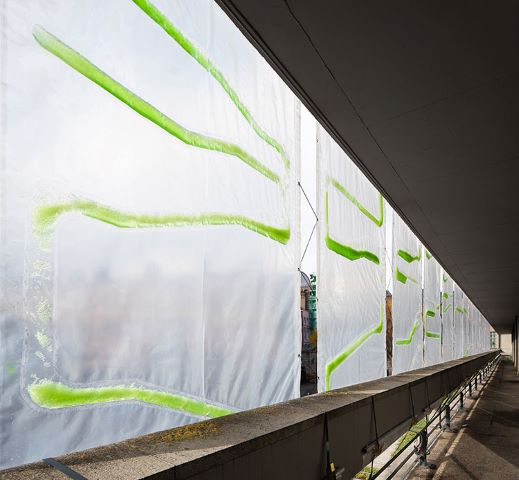 Algal Bio-Curtains at the ecoLogicStudio