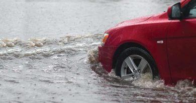 waterlogged roads