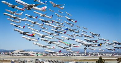 Airplanes timelapse