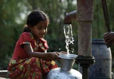 Child filling water
