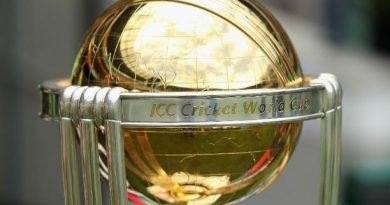 ICC world cup trophy closeup