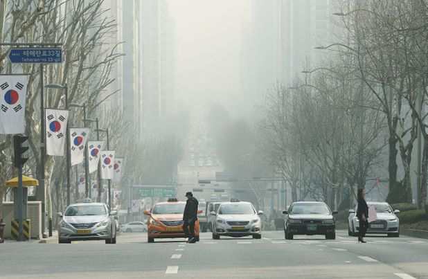 South Korea Covered in smog