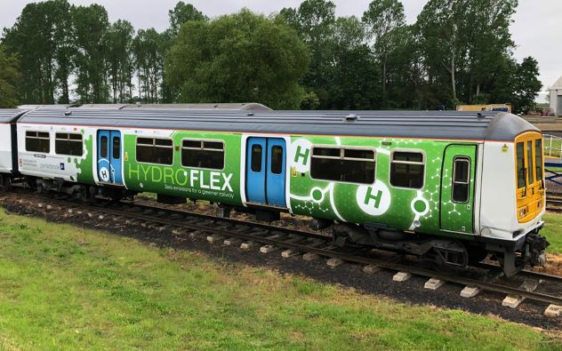 Hydrogen Train Hydroflex in the UK