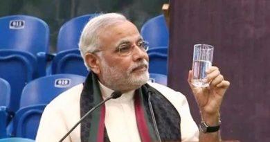Narendra Modi Drinking Water