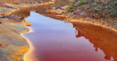 River Polluted with textile Dyes