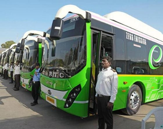 electric buses in Telangana