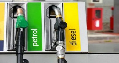 petrol-diesel gun at India fuel pump
