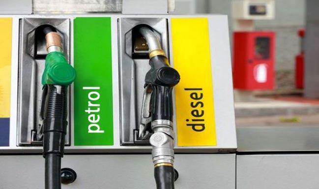 petrol-diesel gun at India fuel pump