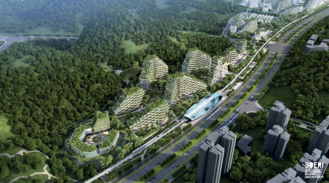 Liuzhou-Forest-city view