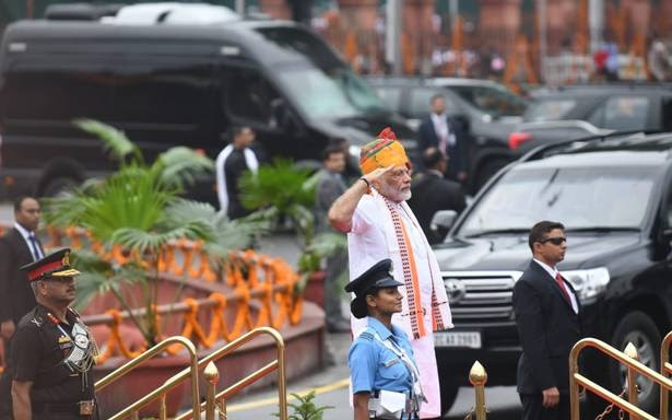 PM MODI on Red Fort